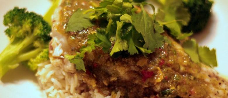 Bite-Sized Recipe: Asian Style Barramundi, Broccoli and Coconut Rice