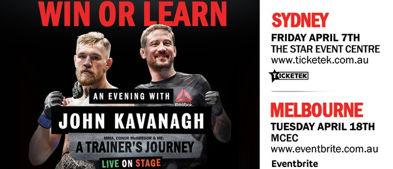 John Kavanagh Shares His Success Story In Melbourne and Sydney This April