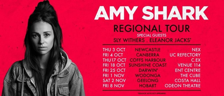 Amy Shark Tours Regional Australia This October and November