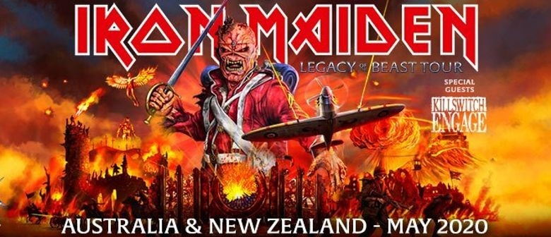 Iron Maiden's 'Legacy of the Beast' world tour takes over Aussie stages in May 2020