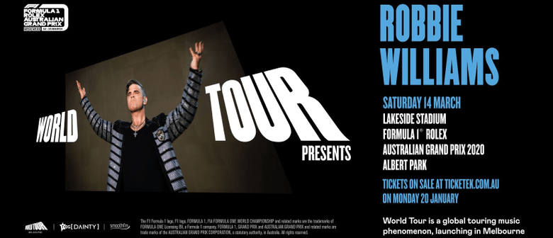 Robbie Williams to headline the inaugural World Tour in Melbourne this March
