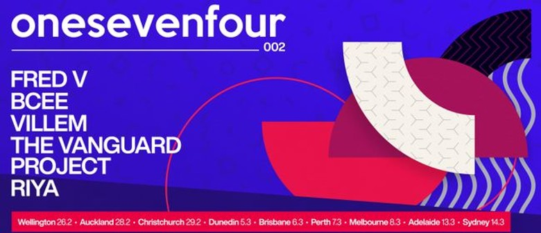 Five of the best UK-based liquid artists unite for onesevenfour 002's AU leg this March
