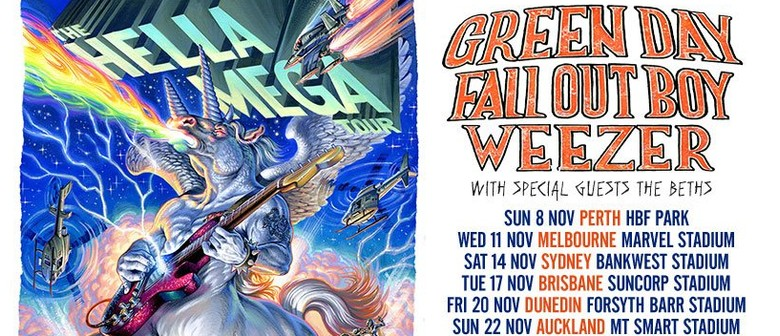 Green Day, Fall Out Boy and Weezer come together for AU leg of 'Hella Mega' tour in November