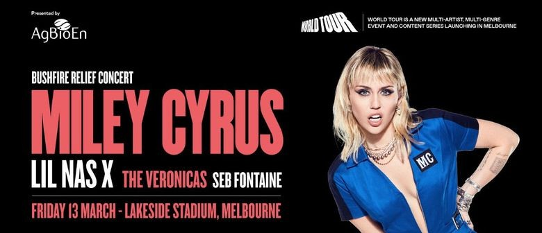 Miley Cyrus to headline 'World Tour Bushfire Relief' charity concert in Melbourne this March