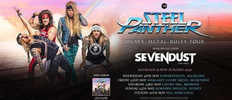 Steel Panther command Aussie stages with their 'Heavy Metal Rules Tour' this May