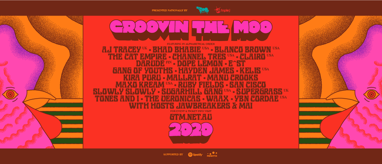 Groovin The Moo's 2020 tour not going ahead