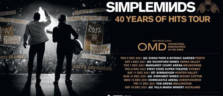 Simple Minds announce rescheduled Australian & New Zealand tour dates