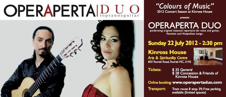Concert of Operaperta Duo (soprano & classical guitar)