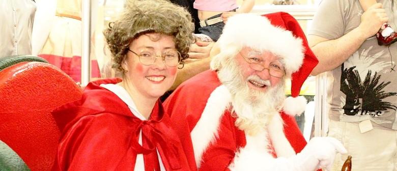 Santa Claus visits Karrinyup Shopping Centre