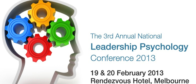 The 3rd Annual National Leadership Psychology Conference 201