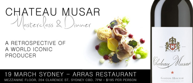 Chateau Musar Masterclass & Dinner