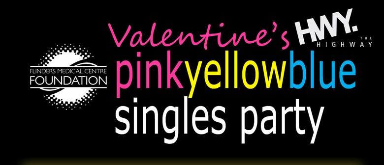 Valentine's Day pinkyellowblue Singles Party