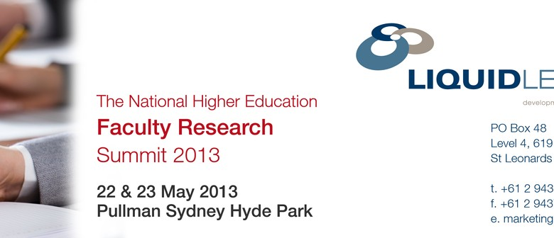 The National Higher Education Faculty Research Summit