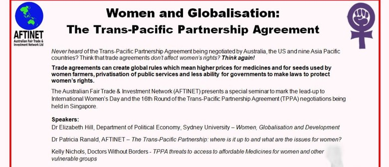 Women and Globalisation: Trans-Pacific Partnership Agreement