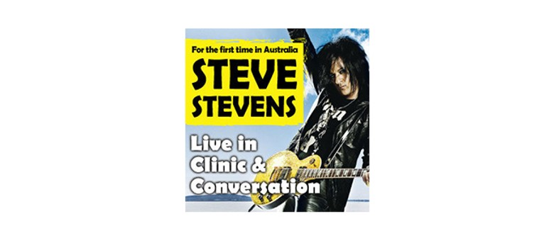 Steve Stevens Live in Clinic and Conversation