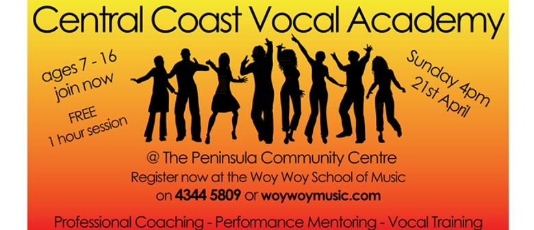 Central Coast Vocal Academy Launch