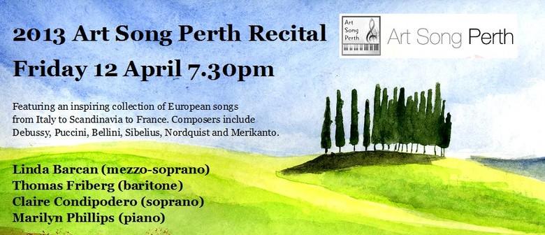 Art Song Perth Recital