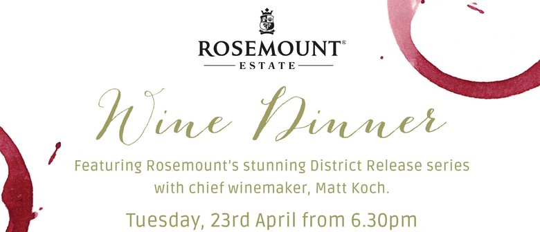 Rosemount Estate Wine Dinner