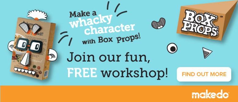Kid Workshops: Make a Whacky Box Character