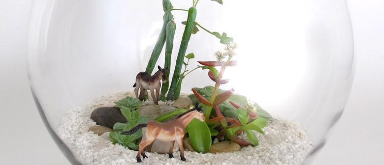 Kids terrarium workshops with Petite Green