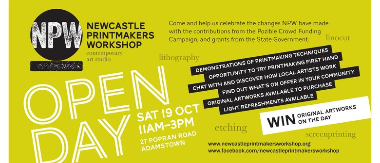 Newcastle Printmakers Open Day