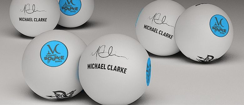Michael Clarke launches Michael Clarke Random Bounce Ball