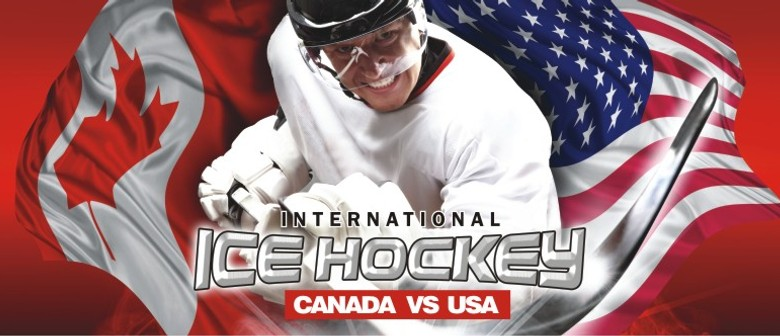 International Ice Hockey USA vs Canada Game Three Brisbane