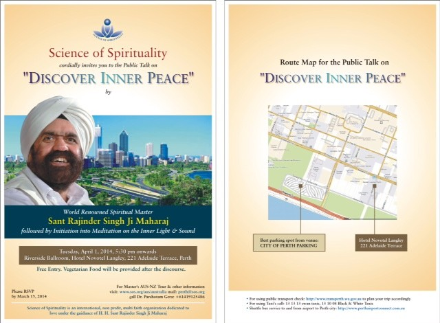 Discover your inner peace science of spirituality for 123 adelaide terrace perth