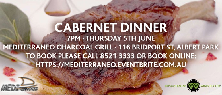 Cabernet Dinner at Mediterraneo Charcoal Grill