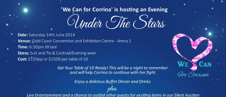 "We can for Corrina ""Under the Stars"" Charity Dinner"