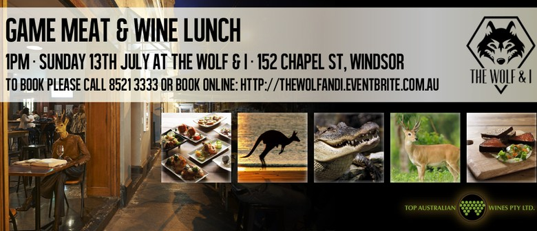Wild Game Food and Wine Tasting Lunch