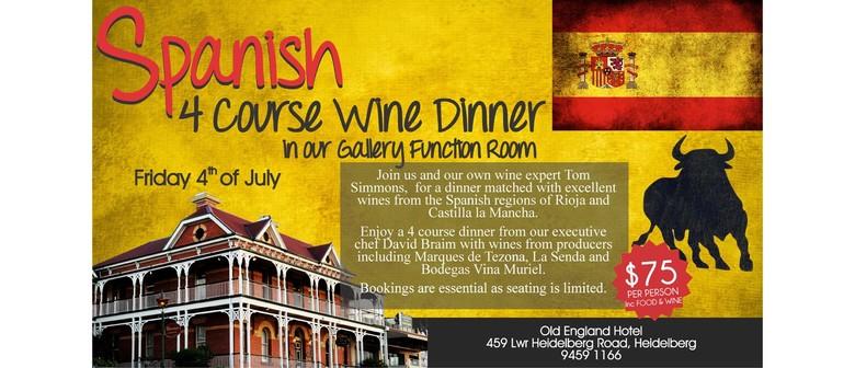 Spanish Four Course Wine Dinner