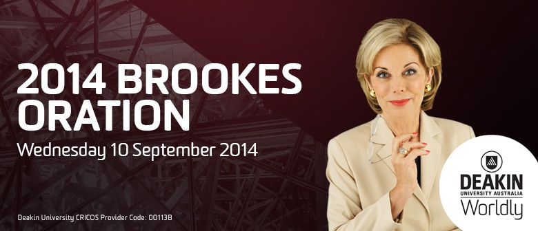 2014 Brookes Oration