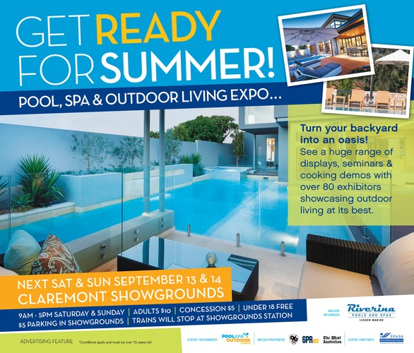 Pool spa outdoor living expo perth eventfinda for Pool and spa expo