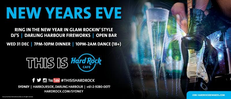 Hard Rock Cafe New Years Eve Sydney