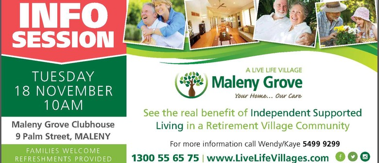 Maleny Grove Information Session - Sunshine Coast - Eventfinda