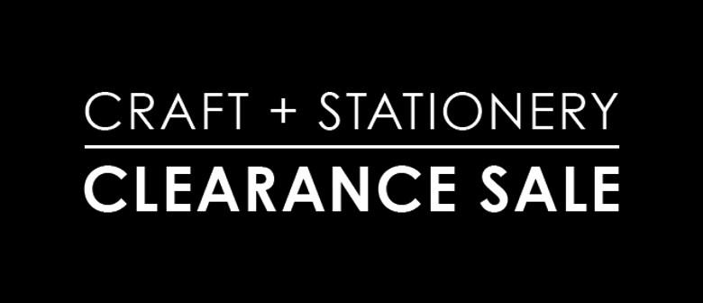 Massive Craft & Stationery Clearance Sale
