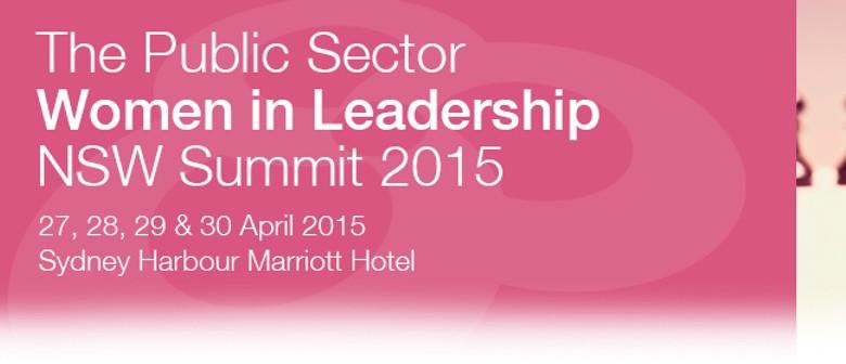 Public Sector Women in Leadership Summit 2015