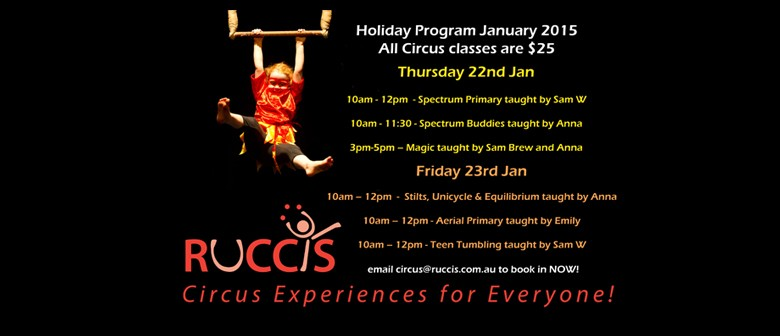 Ruccis Circus Holiday Classes