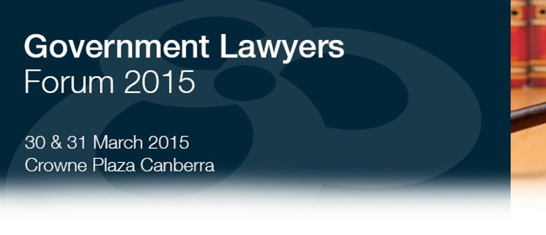 Government Lawyers Forum 2015