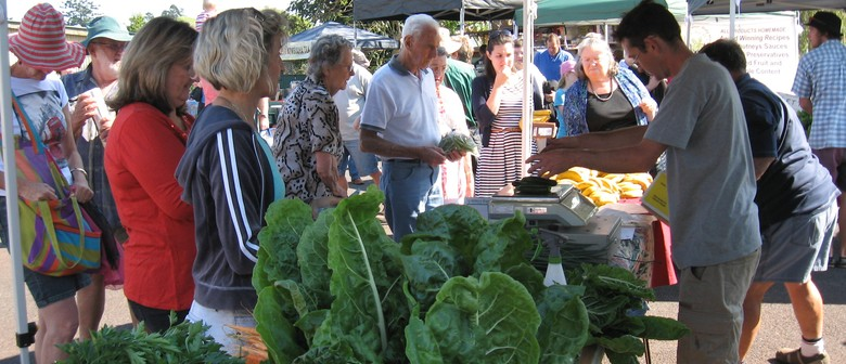 Alstonville Farmers Market With Telegraph Tower