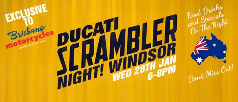 Ducati Scrambler Launch Night