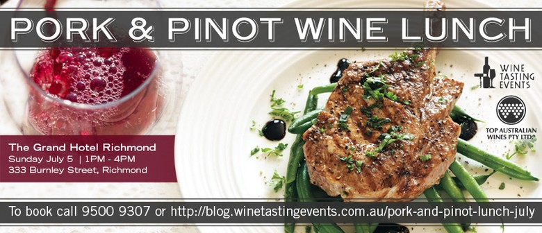 Pork And Pinot WIne Lunch