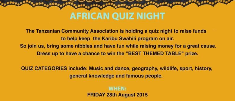 African Quiz Night - Tanzanian Community Radio Fundraiser
