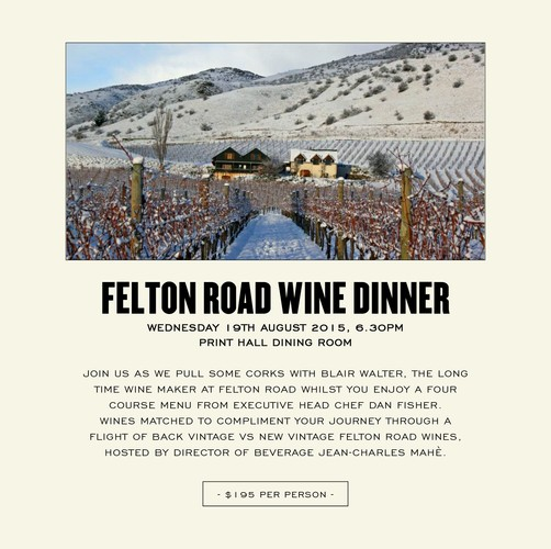Felton road wine dinner perth eventfinda for 125 st georges terrace perth western australia