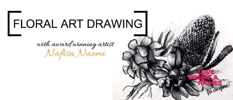 Floral Art Drawing