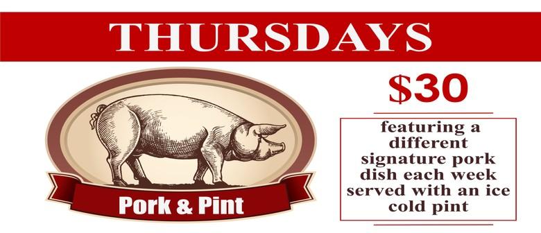 $30 Pork & Pint Every Thursday