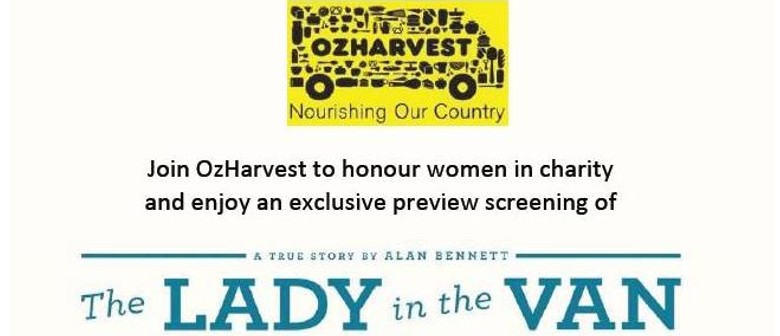OzHarvest Advance Screening: The Lady In the Van