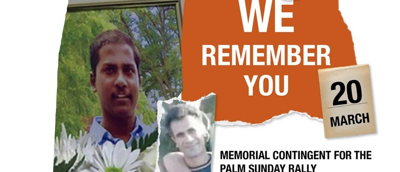 #WeRememberYou - Memorial Contingent  for The Palm Sunday