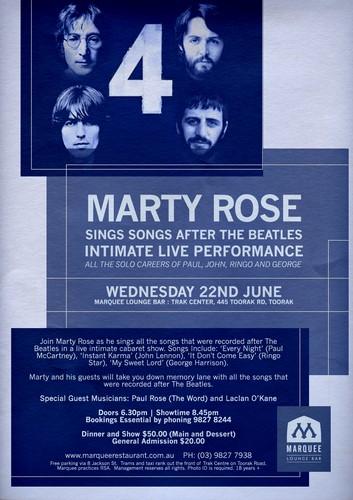 Marty Rose Sings Songs After Beatles